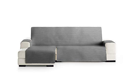 Eysa Oslo Funda, Poliéster, 06-Gris/Blanco, Chaise Longue Extra 290cm. Válido para sofá Desde 300 a 350cm