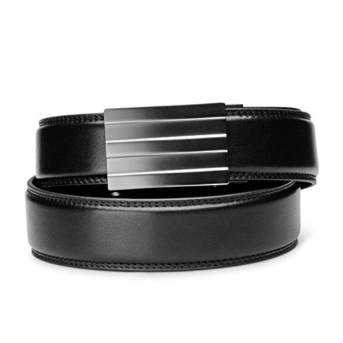 "KORE Men's Full-Grain Leather Track Belt | ""Endeavor"" Alloy Buckle"