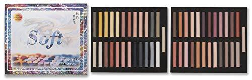 50 Stück Pastellkreide Marie\'s Set A Warmtöne Brauntöne Pastellkreiden