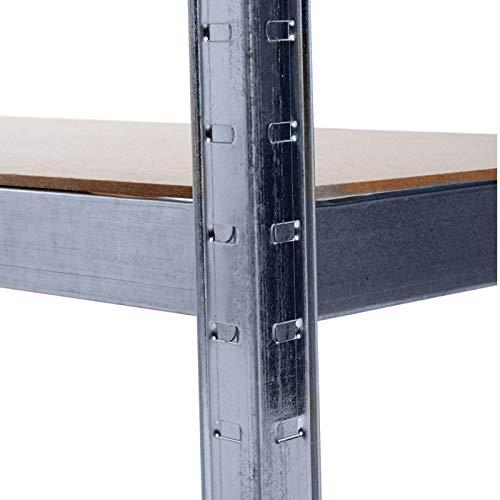 Grafner® Schwerlastregal 5 Ebenen Werkstattregal 1,72m Kellerregal Steckregal bis 375 kg - 3
