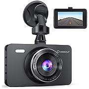 Dashcam, Crosstour Mini Autokamera Full HD 1080P 3 Zoll Bildschirm mit 170 ° Weitwinkel, WDR, G-Sensor, Loop-Aufnahme, und Bewegungserkennung
