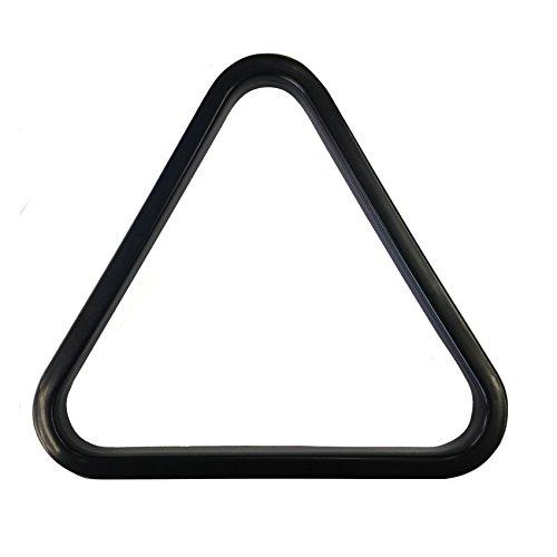 9 Ball aus schwarzem Kunststoff American Pool-Dreieck für 57mm Bälle.