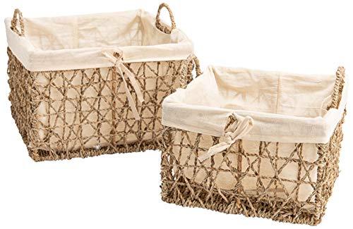Set de 2 paniers de rangement en fibre naturelle