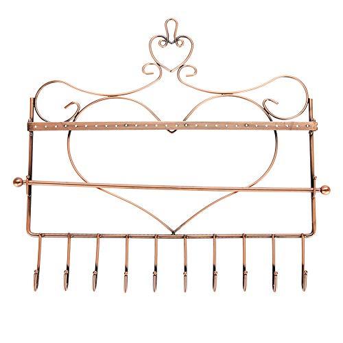 Jewelry sieradenorganizer voor oorbellen, voor armbanden, ringen, metaal, met houder, bronskleurig