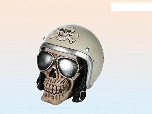 OOTB Spardose Totenkopf mit Sonnenbrille und Helm