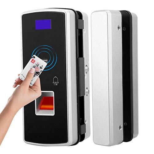 Cerradura de huella dactilar con tarjeta inteligente sin perforaciones para puerta de vidrio