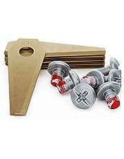 MOWHOUSE Juego de Cuchillas de Repuesto Cortacésped - Recambio de Cuchillas Endurecido Compatible con Bosch Indego - 9 piezas, 9 tornillos