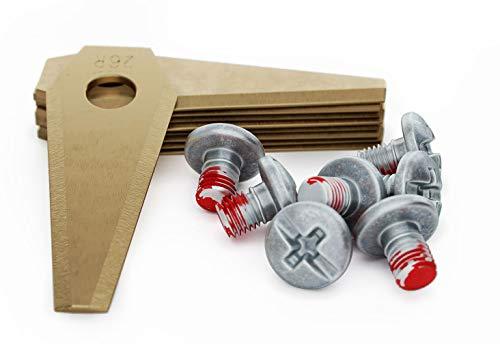 MOWHOUSE 9 x Premium Ersatzmesser für Bosch Indego Mähroboter - Messer Klingen Set (Titan)