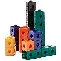 Set of 100 hand2mind Interlocking Early Math Plastic Pop Cubes