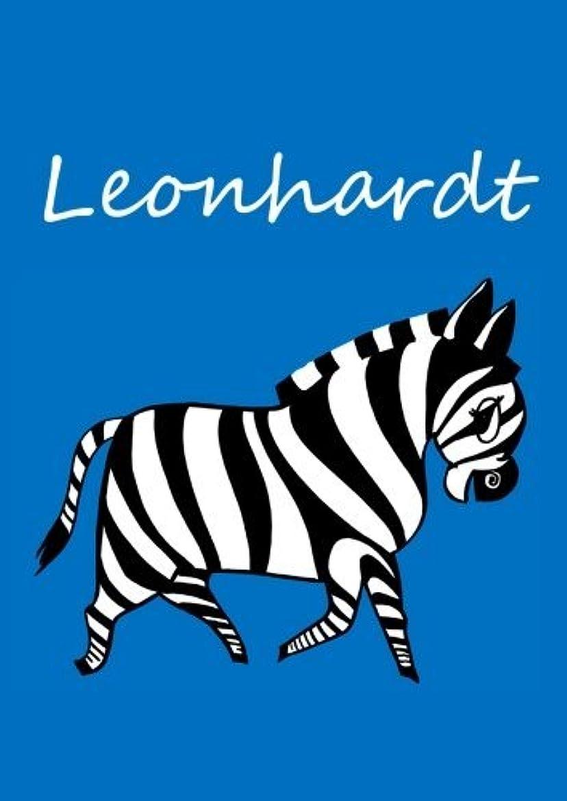 視力兵隊スロットLeonhardt: individualisiertes Malbuch / Notizbuch / Tagebuch - Zebra - A4 - blanko
