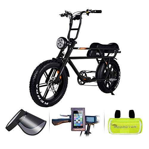 Addmotor MOTAN Electric Bike 750W 48V 16Ah Lithium Battery Pedal Assist 20 Inch Fat Tire 85% Assembled Comfort M-70 P7 Ebikes for Adults Men (New Black)