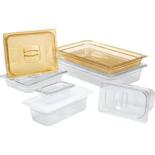 Rubbermaid FG228P86AMBR Notched Cover for Multi-Use Hot Food Pans, Half-Size