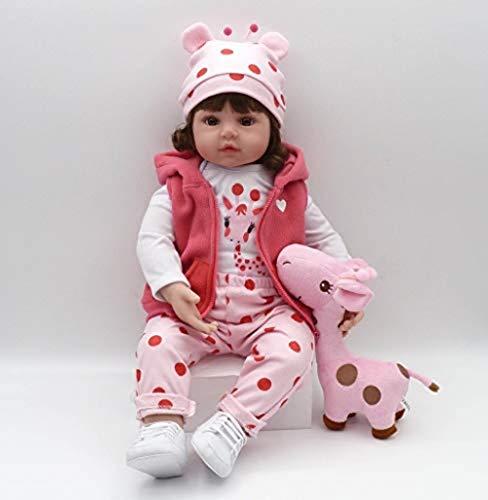 ZIYIUI Reborn Baby Dolls 20 Inch 50cm Reborn Toddler Girl Doll Soft Vinyl Silicone Real Life Like Looking Newborn Baby Dolls Toy Reborn Babies