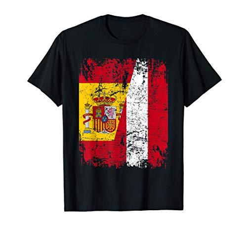 PERÚ ESPAÑA BANDERA de la AMISTAD PERÚ Camiseta