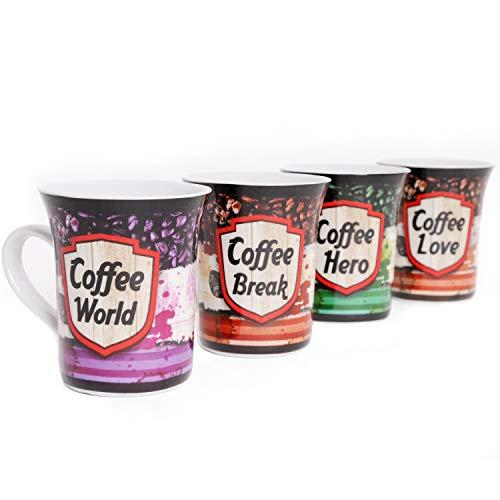 Kaffeetassen 4 Stück Coffee Mäser Domestic Porzellan Kaffeepot 29cl