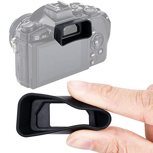 JJC KIWIFOTOS Ergonomic Long Camera Eyecup for Olympus E-M1 / E-M1 Mark II, EM1 Eye Cup, EM1 Mark II Eye Piece, Replaces Olympus EP-13 EP-12, Soft Silicone, 47x25x19mm