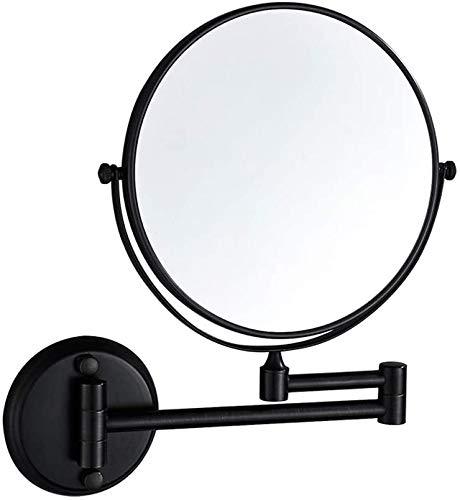 Espejos Para Maquillarse 3X de aumento de maquillaje Espejo montado en la pared de doble cara del espejo cosmético de 8 pulgadas plegable tocador de baño Espejos, 360 ° giratorio y telescópico espejo
