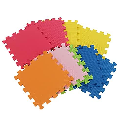 TETI´S Ducks Home - Tappeto puzzle per bambini e neonati, in schiuma morbida EVA, colori pieni, ideale per sviluppare psicomotricità 90 x 90 cm circa (30 x 30 ogni pezzo).