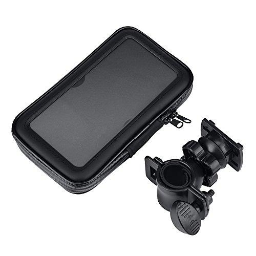 Dilwe stuurtelefoon zak, fiets telefoon zak met houder voor telefoon GPS(XL)