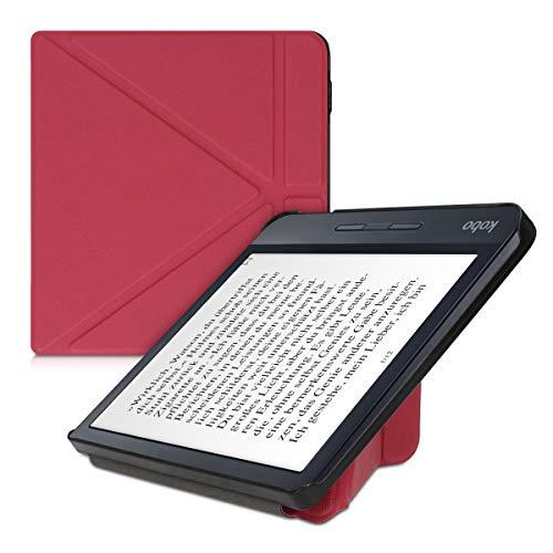 kwmobile Funda Compatible con Kobo Libra H2O -Estilo Origami -en Rojo