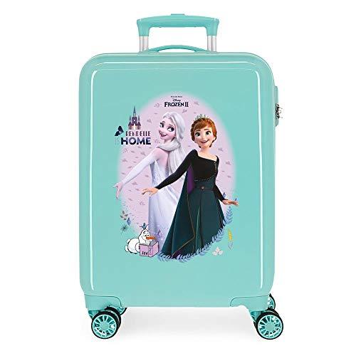 Disney Frozen Arendelle Is Home Maleta de cabina Azul 38x55x20 cms Rígida ABS Cierre de combinación lateral 34L 2,66 kgs 4 ruedas dobles Equipaje de Mano