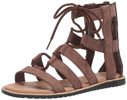 Sorel Women's Bailee LACE UP Sandal Flat, Tobacco, 8 M US