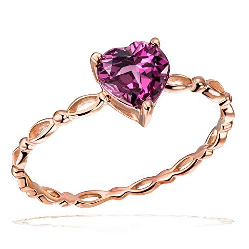 Goldmaid Damen-Ring Rhodolith 585 Rotgold Granat rot Herzschliff - Fa R7529RG