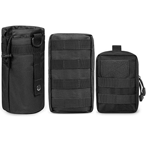 Gogoku 3-Pack Combo Molle Pouch Water Bottle Pouch...