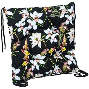 Cuscino per sedia, 40 x 40 cm, per interni ed esterni (motivo floreale, 40 x 40 cm)