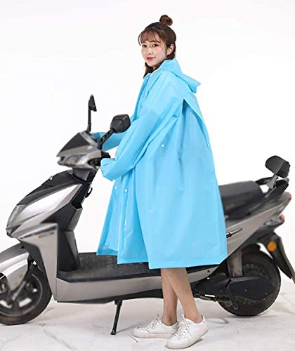 Poncho Waterproof Adult Plastic Bicycle Rain Poncho, Made Oxford Fabric And PVC, Waterproof, Windproof, Wear-Resistant, Motorcycle/Electric Vehicle SLZFLSSHPK (Size : Blue)