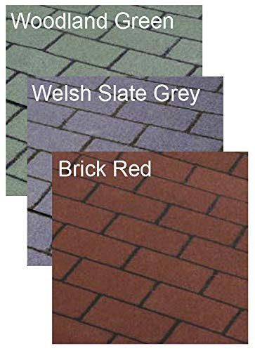 Chesterfelt Brick Red Roll On Shed Felt Roofing Square Shingles 8m
