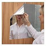 Momola Autocollant miroir,Sticker mural DIY Miroir souple créatif,Miroir Autocollant Full Body Practice Miroir Haha Miroir Autocollant Autocollant Mural Fait Main(50x100cm)