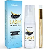 Eyelash Extension Shampoo - Eyelid Eyelash Foaming Cleanser - Best Eyelash Wash and lash bath for Extensions and Natural Lashes - Mascara Remover - Paraben and Sulfate Free - Professional and Self Use