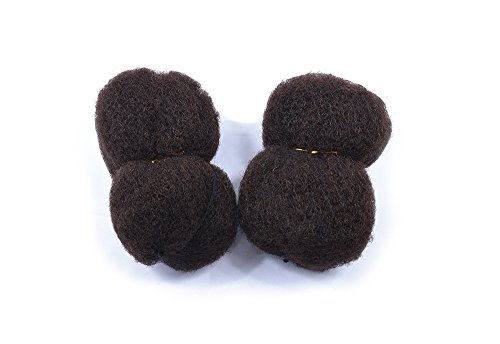 "Capilli Tight Afro Kinky Human Hair 8"", 2 Piece Bundle 2oz (1oz Each) (2-Dark Brown)"