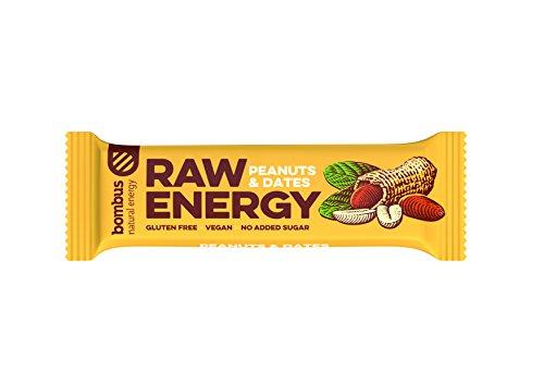 Baton RAW ENERGY orzech ziemny daktyl bezglutenowy 50 g Bombus