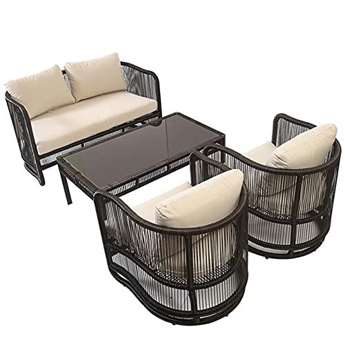 YTO Sofá al Aire Libre de la Silla de la Rota, Juego del sofá de la Rota del Patio, Muebles de la Rota de la Rota del Patio al Aire Libre