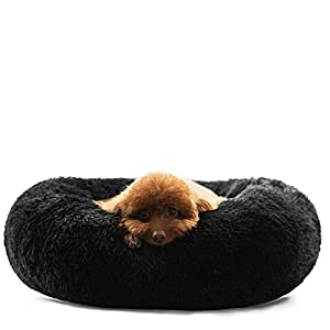 HACHIKITTY Dog Beds Calming Donut Cuddler, Puppy Dog Beds Large Dogs, Indoor Dog Calming Beds Large