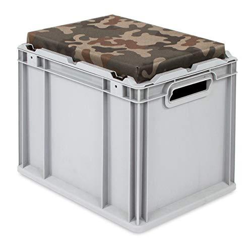 aidB Eurobox, NextGen Seat Box, camouflage Handgriffe offen, 43-32 - Einzel