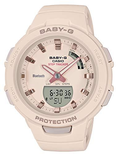 [カシオ] 腕時計 ベビージー FOR SPORTS 歩数計測 Bluetooth 搭載 BSA-B100-4A1JF レディース ベージュ