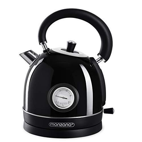 Wasserkocher Retro mit Temperaturanzeige anthrazit UK