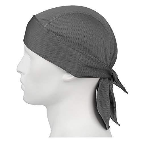 HASAGEI Sports Bandana Cap Herrem Damen Biker Bandanas Kopftuch Hat - Grau