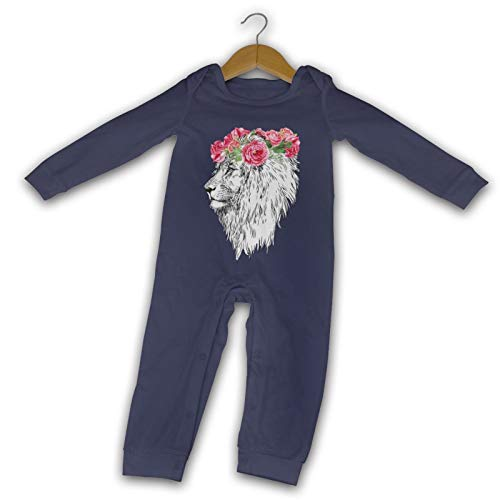 Der König der Löwen Kopf mit Kranz lang Komfort Baby Crawler schwarz Gr. 12 Monate,...