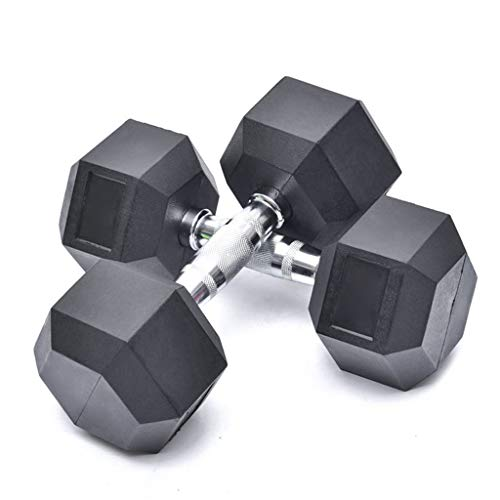 Fantastic Prices! Hex Dumbbells Set - 1/2 PCS 2 Pounds Workout Weights Dumbbells with Metal Ergonomi...