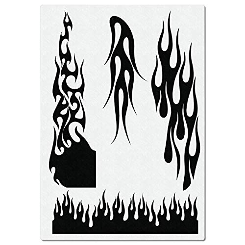 Airbrush Schablone für Hot Rod Feuer & Flammen