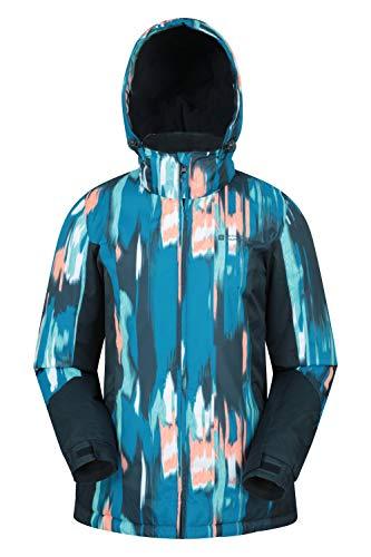 Mountain Warehouse Dawn Skijacke für Damen - Schneedicht, warme Snowboardjacke, Fleecefutter, Bündchen, Saum und Kapuze zum Verstellen - Ideale Winterjacke Dunkelblau 46