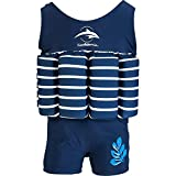 Konfidence Float Suit, Traje, Unisex, Color Blue Breton Stripe, tamaño 2-3 años