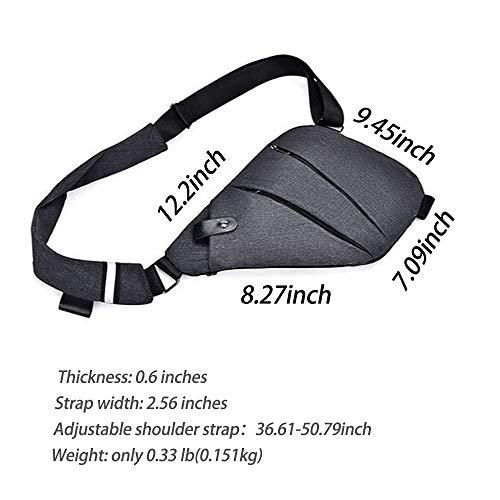 Phabuls moda Sling hombro Crossbody Bag hombres multifuncional pecho mochila delgada para hasta 7.9 '' iPad Mini