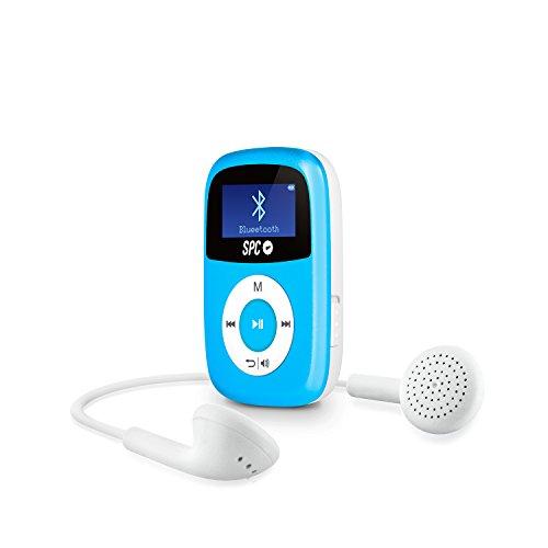 SPC Bluebird Reproductor de MP3 8GB Azul - Reproductor MP3 (Reproductor de MP3, 8 GB, 3.5mm, Radio FM, 21 g, Azul)