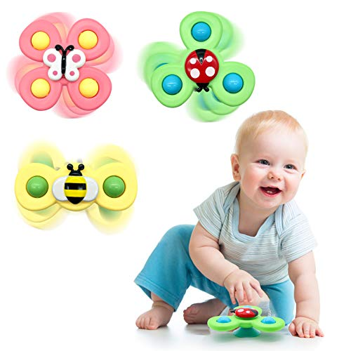 ATHREE Suction Cup Spinning Top Toy Baby Spinning Top Toy Spinning Top Spinner Toy Early Learner Toys for Baby Children Kids