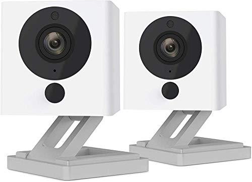 SmartCam Twin Pack | Cámara de seguridad compatible con Alexa 1080P Full HD Night Vision 2-Way Audio Smart Camera | Juego de 2 piezas